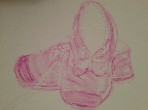 magenta shoes sketch 0417