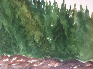 Detail:  part of the trees/rocks
