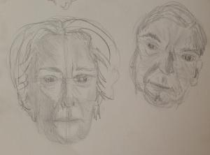5-min. head studies (graphite)